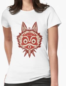 Red Ghibli Womens Fitted T-Shirt