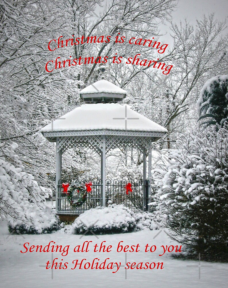 Christmas is caring.... by Susan S. Kline