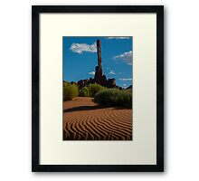 Candle in the Sand Framed Print