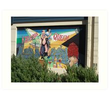 Broken Hill mural by Geoff De Main, a Art Print
