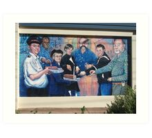 Broken Hill mural by Geoff De Main,b Art Print