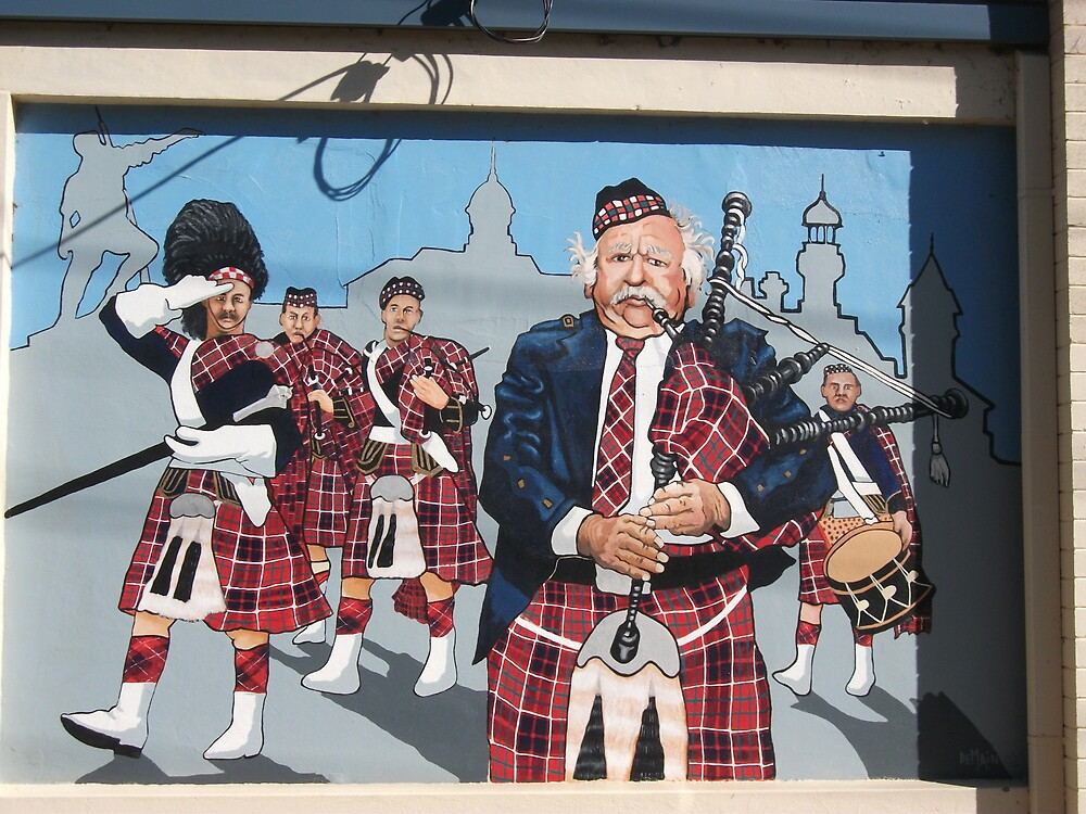 Broken Hill mural by Geoff De Main, g by Heather Dart