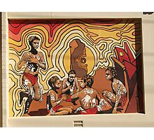 Broken Hill mural by Geoff De Main, h Photographic Print