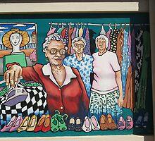 Broken Hill mural by Geoff De Main, j by Heather Dart