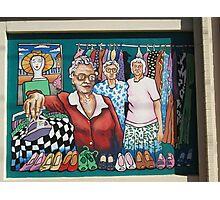 Broken Hill mural by Geoff De Main, j Photographic Print