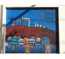 Broken Hill mural by Geoff De Main, n Photographic Print