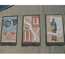 Broken Hill murals near Sully's  Photographic Print