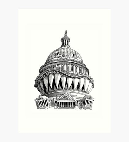 Angry Washington Art Print