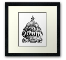 Angry Washington Framed Print
