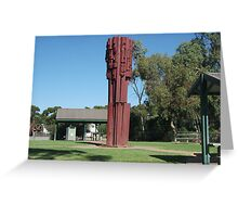 Broken Hill Pro Hart sculpture  Greeting Card
