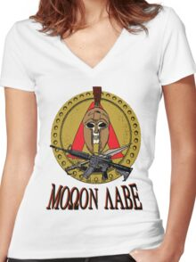 Molon Labe Spartan MkII Women's Fitted V-Neck T-Shirt
