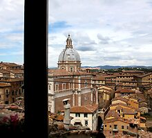 A Window View of Siena by Andrea  Muzzini