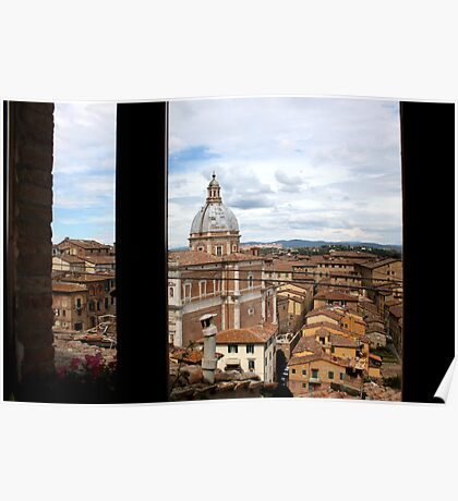 A Window View of Siena Poster