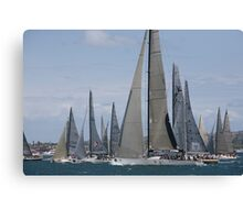 Sydney to Hobart Start-Boxing Day 2012 Canvas Print