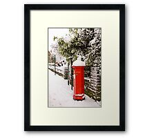 English Post box Framed Print