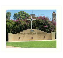 Broken Hill Vietnam Veterans Memorial  Art Print