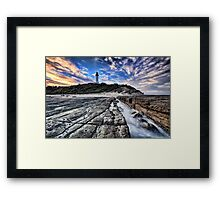 Norah Head Lighthouse at Sunset Framed Print