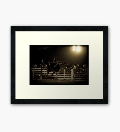 All in a nights work Framed Print