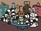 Teddy Bear An Bunny - Home Of The Broken Hearted Zebra Snake by Brett Gilbert