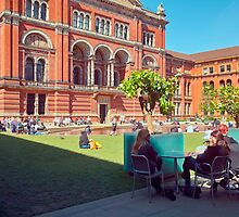 Springtime at the V&A by Priscilla Turner