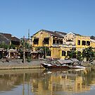 River-side homes have been flooded often. by geof