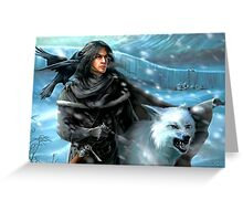 Jon Snow and His Wolf Greeting Card