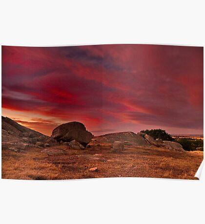 """A Summer's Sundown At The Rocks"" Poster"