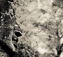 Buddha statue black and white by tpfeller