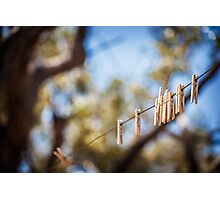 Pegs Photographic Print