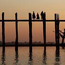 U bein bridge  by Peter Voerman