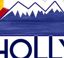 Holly Colorado wood mountains Sticker