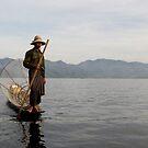 Fisherman on lake Inle (Burma/ Myanmar)  by Peter Voerman