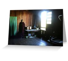 Monk in a monastery near lake Inle  Greeting Card
