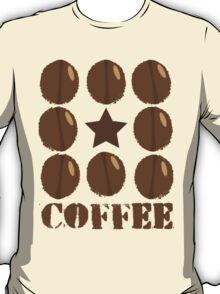 Coffee beans funky coffee design T-Shirt