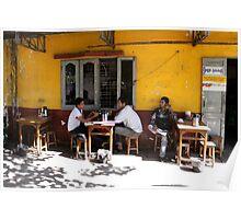 Cafe in Yangon Burma/ Myanmar  Poster