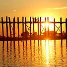 U bein bridge Burma/ Myanmar  by Peter Voerman