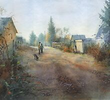 Autumn. Morning. Rybachiy by Sergei Kurbatov
