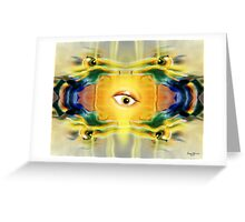 Motion Robots and the surprised eyeball Greeting Card