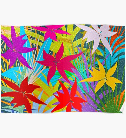 Tropical Foliage Poster