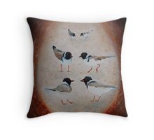 Rhythm of Hooded plovers Throw Pillow