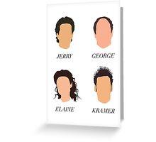 Seinfeld Minimalist Print Greeting Card