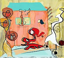In my house there is an elephant - 01 by Claudia Alves