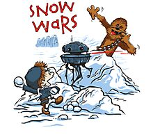 Calvin And Hobbes snow-wars Photographic Print