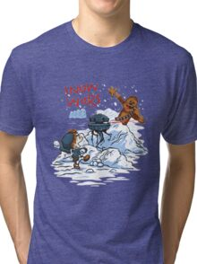 Calvin And Hobbes snow-wars Tri-blend T-Shirt