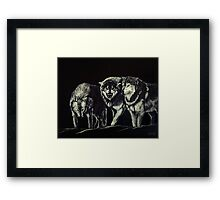 """The Wolves Are Here"" Framed Print"