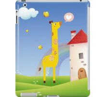 Cute Love Giraffe Butterfly Rainbow Castle & Cloud iPad Case/Skin