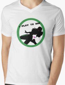 I Play to Win Mens V-Neck T-Shirt
