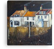 Cowbar Cottages, Staithes Canvas Print