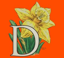 D is for Daffodil - full image Kids Clothes