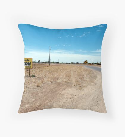 drive slowly and enjoy our town Throw Pillow